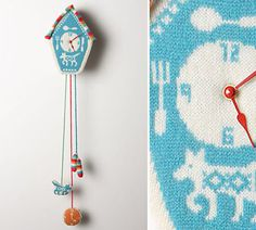clock #clock #toy #knit