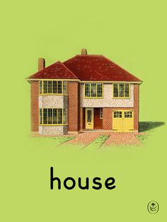 house Art Print by Ladybird Books Easyart.com #vintage #artprints #print #design #retro #art #bookcover