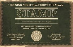 sleepless ink #event #invite #stamp #art