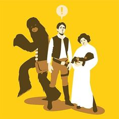 FFFFOUND! | Chewie Shot First! - Nerdcore #illustration #wars #star