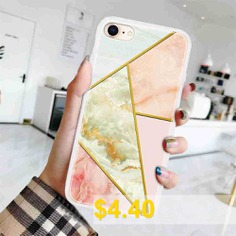 TPU #Geometric #Marble #Painted #Phone #Case #for #iPhone #7 # #/ #8 #- #MULTI-H