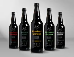 akzidenz grotesk beer #typography #packaging #simple #akzidenz grotesk #label #beer #package design #color #bottle #alcohol #lines #grotesk