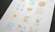 SOF_Summertime_07 #poster #summer #letterpress