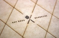 Art of the Menu: Kay Bros Barbecue #logo #minimal #clean