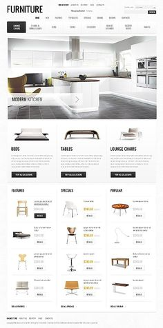 UX/UI/design / Furniture #design #website #ecommerce #furniture #layout #web