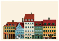 Copenhagen architecture illustrations,denmark #copenhagen #architecture #illustrations #denmark