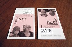 2 filles 1 «date» #date #design #poetry #show #poster #ticket
