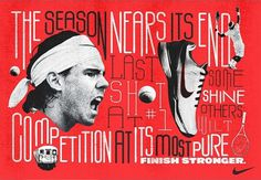 Mikey Burton / Graphic Design, Illustration and Letterpress #red #tennis #nike #type #typography