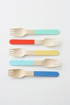 Dipped. #utensil #design #wood #product #forks #dipped