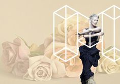 Melbourne Spring Fashion Week Concept & Guidelines on Behance #creative #white #design #guidelines #black #identity #and #fashion #logo #flowers
