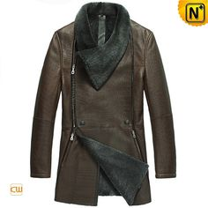 Sheepskin Lined Coat for Men CW868001 #sheepskin #coat #lined