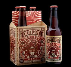 Ballistic Brewing Gorgon Red Ale #packaging #beer #label #bottle