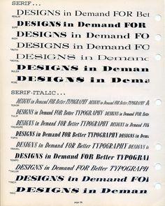 Filmotype modern serif alphabets are shown in this type specimen. #type #specimen #typography