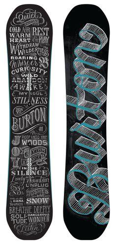 Burton Deja Vu Tanamachi.png #blackboard #handrawn #chalk #snowboard #type