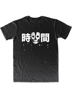 "T-shirt ""Time"" – black edition KFKS store. #black #tshirt #skull #design #style #fashion #lettering #bw #active #wear #cloth #monochrom #i"