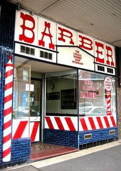 Haircuts Barber shop, Petersham. Photo: Gabriel Zeng