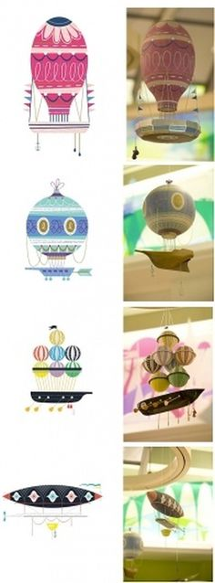 Eye Candy, Literally - Brand New #airships #illustration #balloons