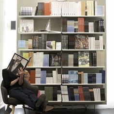 Modular shelving system for home, office, library shelving and retail #vitsoe #dieter #rams