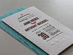 Jaime and Anthony Wedding Invitation #type #wedding #stationary