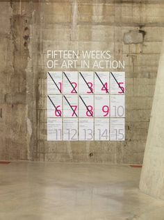 The Tanks wayfinding & signage | Cartlidge Levene #interactive #posters #museum
