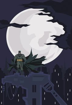 The Batman Art Print by Phil Giarrusso | Society6 #comics #vector #batman