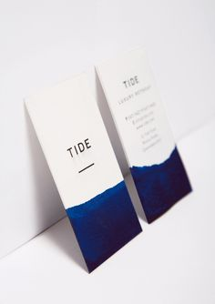 Tide Retreat by Bland Designs #business cards #water #blue