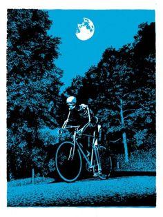 Google Reader (63) #skeleton #design #illustration #bike #poster