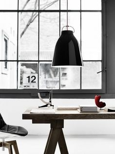 Koolandkreativ: Caravaggio light by Cecilie Manz #desk #interior #light