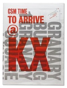 CSMTime10_01.jpg 275×360 pixels #typography #type #red #csm #central saint martins