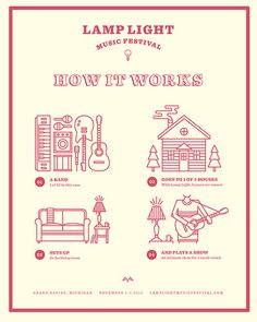 Lamp Light Music Festival #festival #how #infographic #icons #illustration #music #to