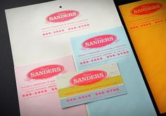 DAVID SANDERS : Sébastien Bisson #classic #print #identity #stationary