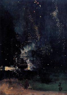 "nevver: ""Nocturne in Black and Gold: The Falling Rocket, James Whistler """