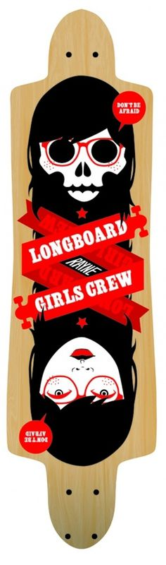 Creative Common People #vector #longboard #girl #illustration #skate