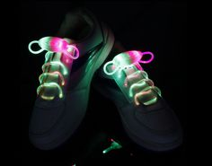 colorful-RGB Flammi LED Shoelaces Light Up Shoe Laces