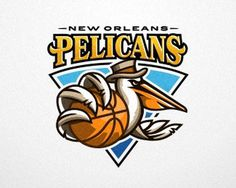 Pelicans New Orleans #vector #sport #branding #illustration #logo