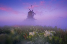 Magic Windmills: Gorgeous Sunset Photography by Albert Dros