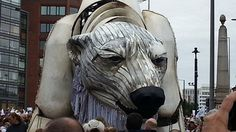 The Giant Polar Bear Puppet – A Performance Protest for Greenpeace | Hi Fructose Magazine