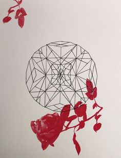 Separation - Stephanie Rachel #design #photography #screen print #rose #sewing