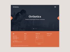 Orthotica Landing Page #ceros #getty