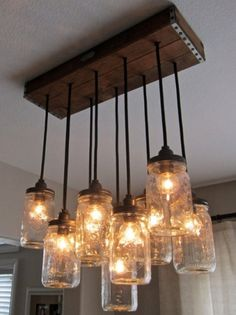 The Black Workshop #lights #mason #jars