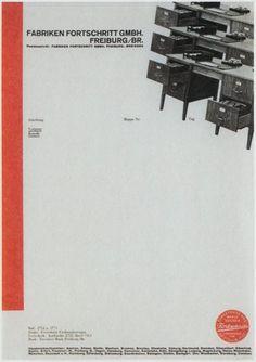 Interesting Letterhead Designs | Letterheady #fabriken #fortschritt #1932 #gmbh #letterhead
