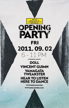 Au! Au! Au! Au! Au! Au! Au! Au! #flyer #design #seoul #opening #space #x #party