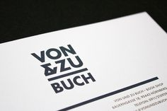 VON & ZU BUCH Letterhead #branding #shop #book #identity #logo #letterhead