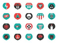 Grateful Dead Icons #icon #greatful #design #illustration #brand #poster #dead #party
