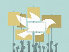 Can Protests Actually Make Peace? #illustration #editorial