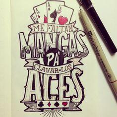 Erick Melendez #lettering #ink #aces #type #sketch