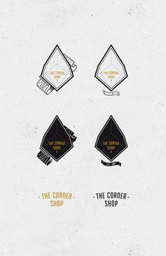 The corner Shop #design #graphic #typography
