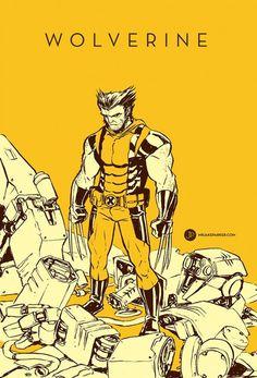 Spectacular Avengers Wolverine #illustration #avengers #minimal #wolverine