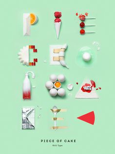 Piece of Cake Typography4e #type #image