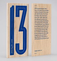 Magpie Studio #finishing #wood #print #blue